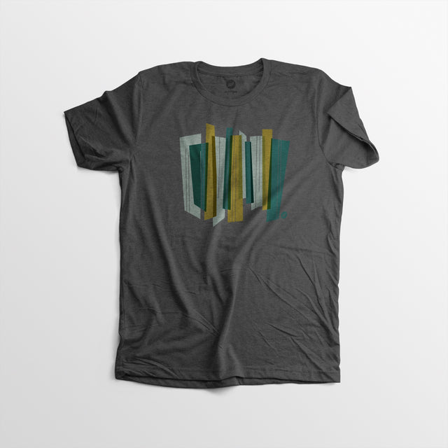 Men's Modern Lines Tee - Charcoal - By Autotype