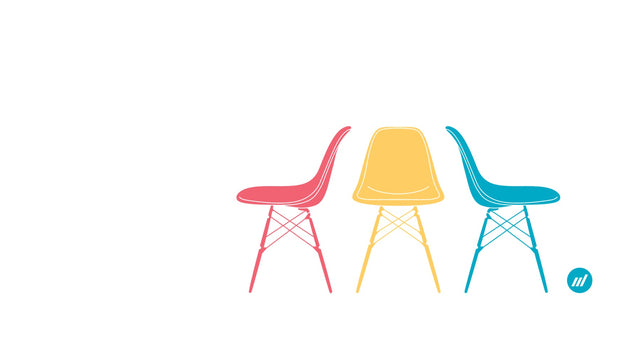 Modernica Chairs Vector Graphic - By Autotype