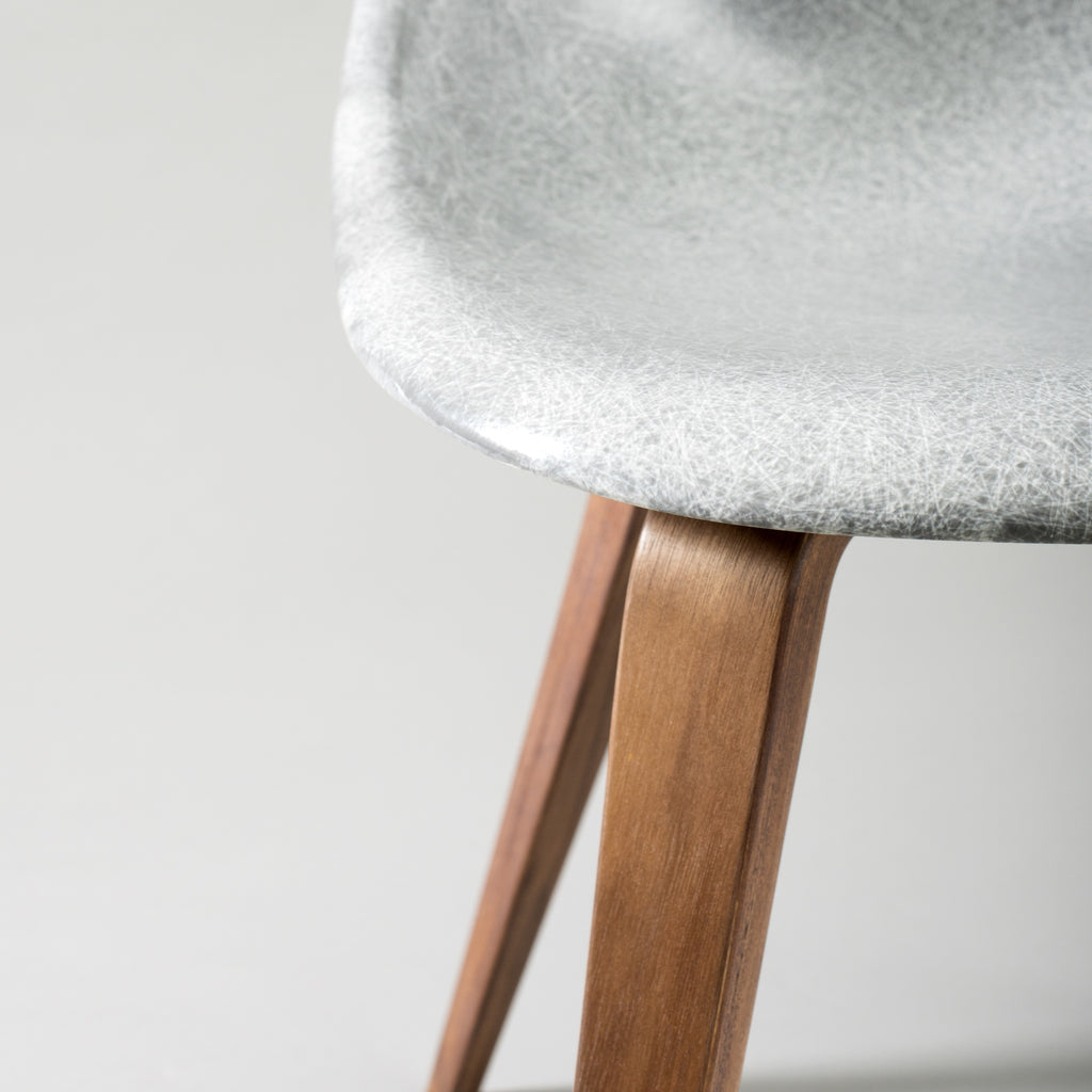 Modernica Case Study Side Shell Spyder Base - Gray Fiberglass Chair - By Autotype
