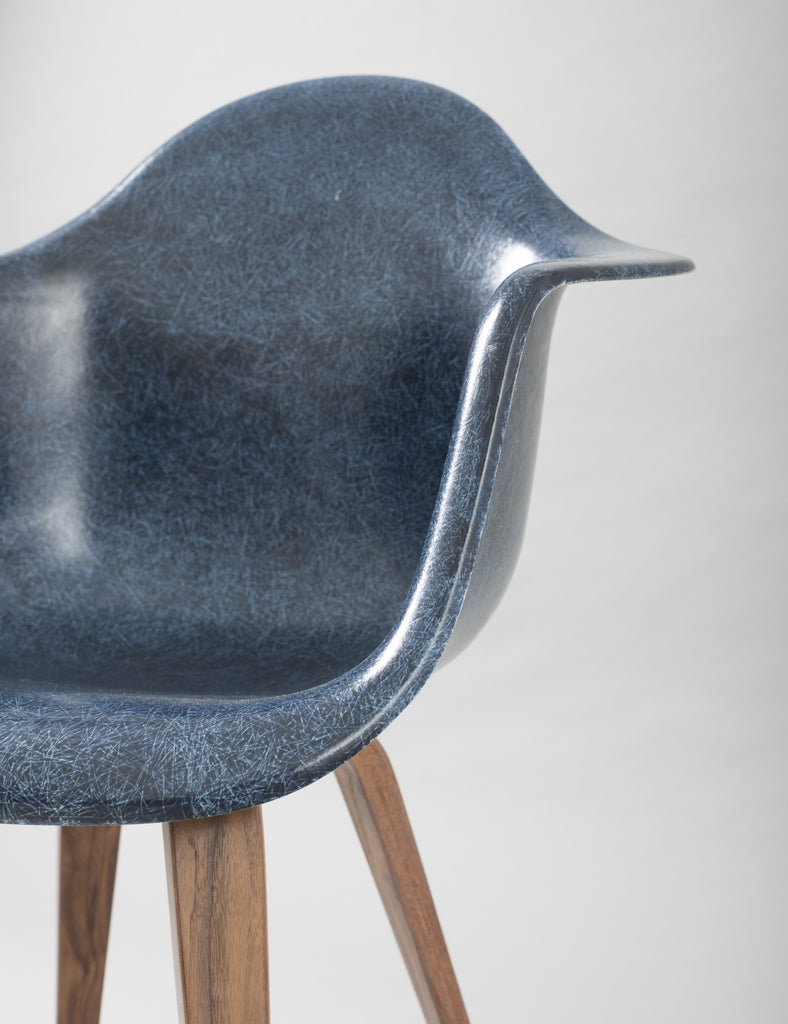 Modernica Case Study Arm Shell Spyder - Blue Fiberglass Chair - By Autotype