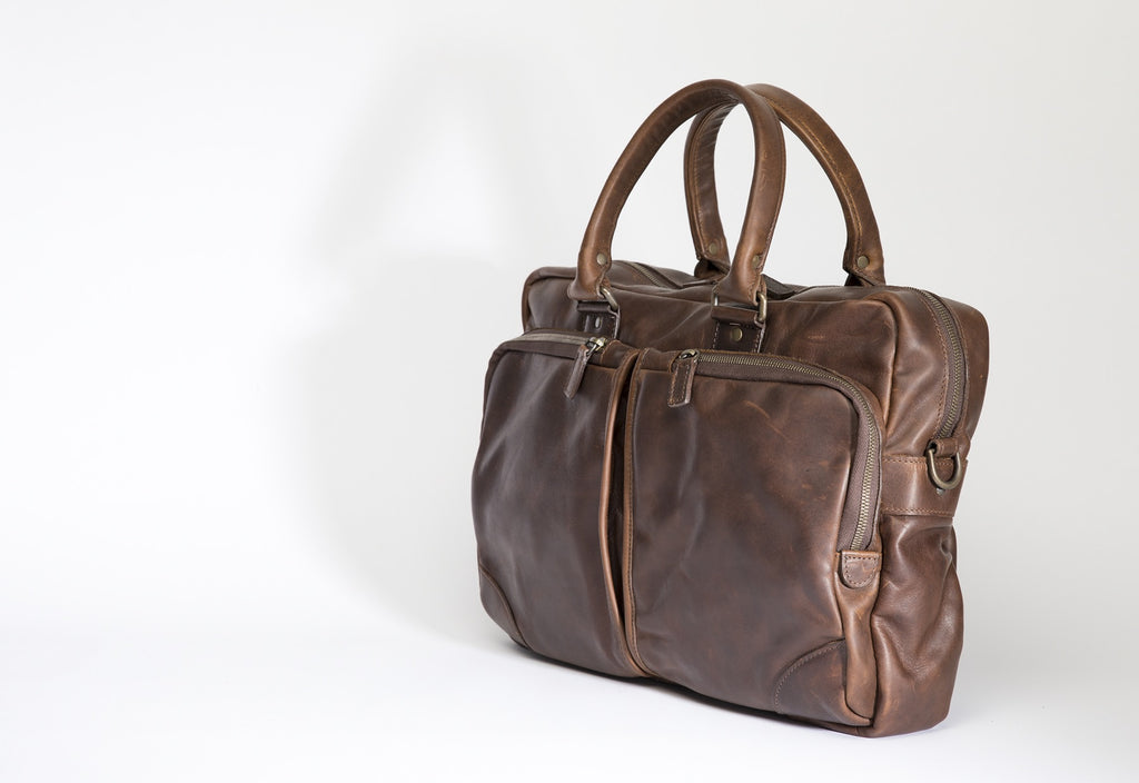 Haythe Commuter - Baldwin Oak - Commuter Leather Bag - Moore and Giles - By Autotype