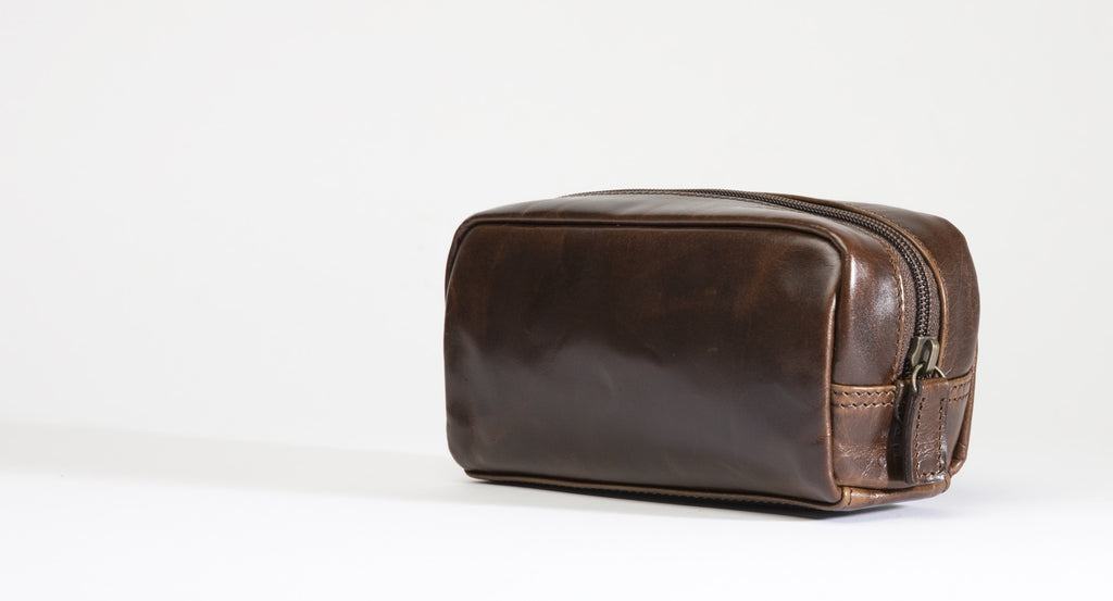 George Mini Dopp Kit - Traveling bag - Moore and Giles Leather Goods - By Autotype