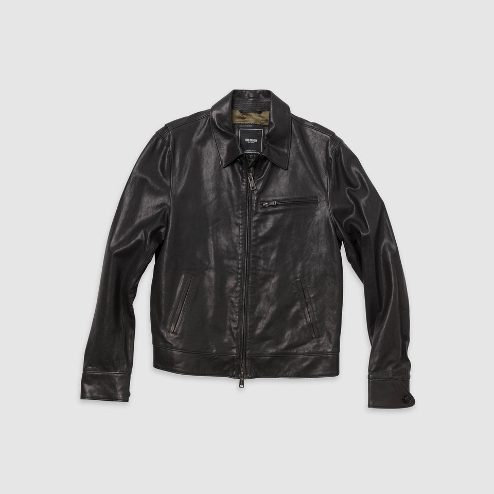 "Todd Snyder - Washed & Burnished Italian Lambskin Leather ""Dean"" Jacket"