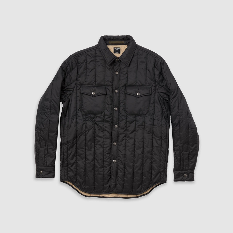 Todd Snyder - Quilted Nylon Snap Front Shirt Jacket