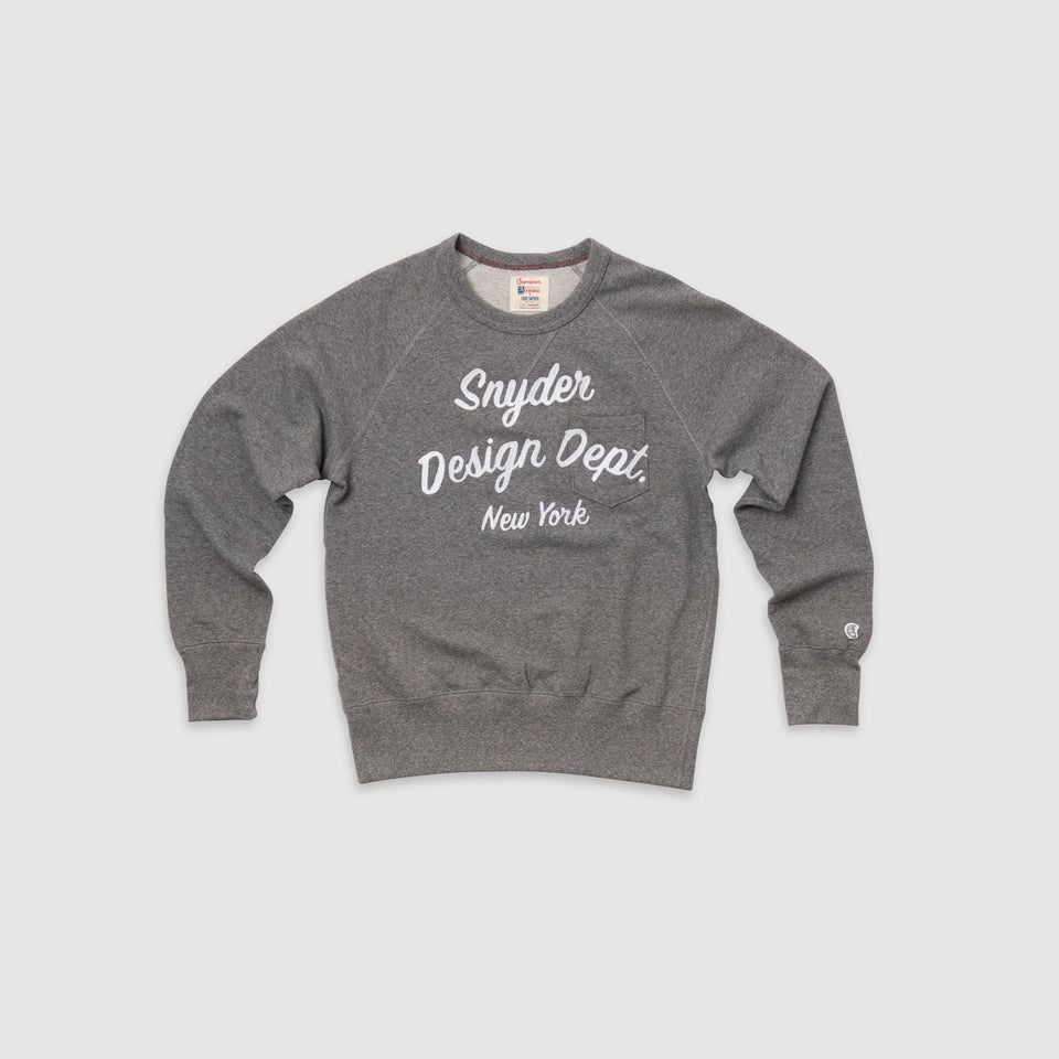 Snyder Design Dept. Champion Crew Fleece