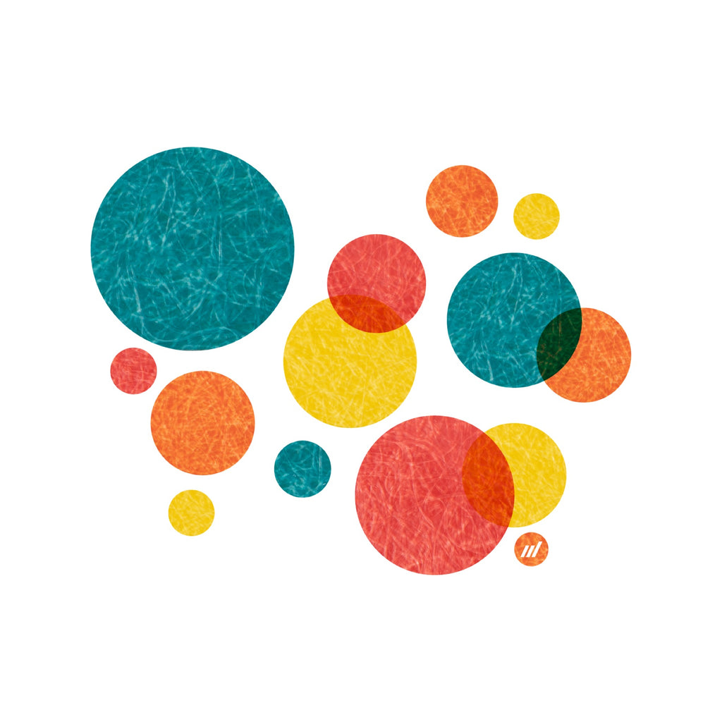 Colorful Dots Print by Autotype