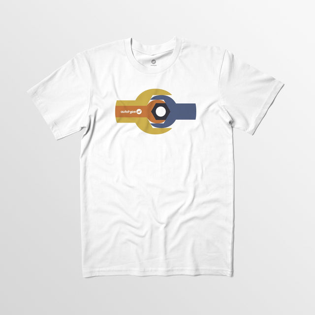 Men's Autotype Wrench Tee - White