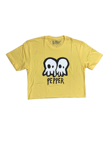 Local Motion Skullconuts Banana Cream Crop Tee