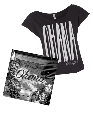 Pepper - Ohana Women's T-Shirt & Vinyl Bundle