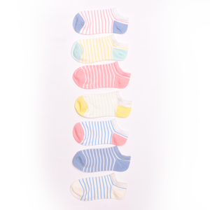 Stripes Women's Ankle Socks, 7pk