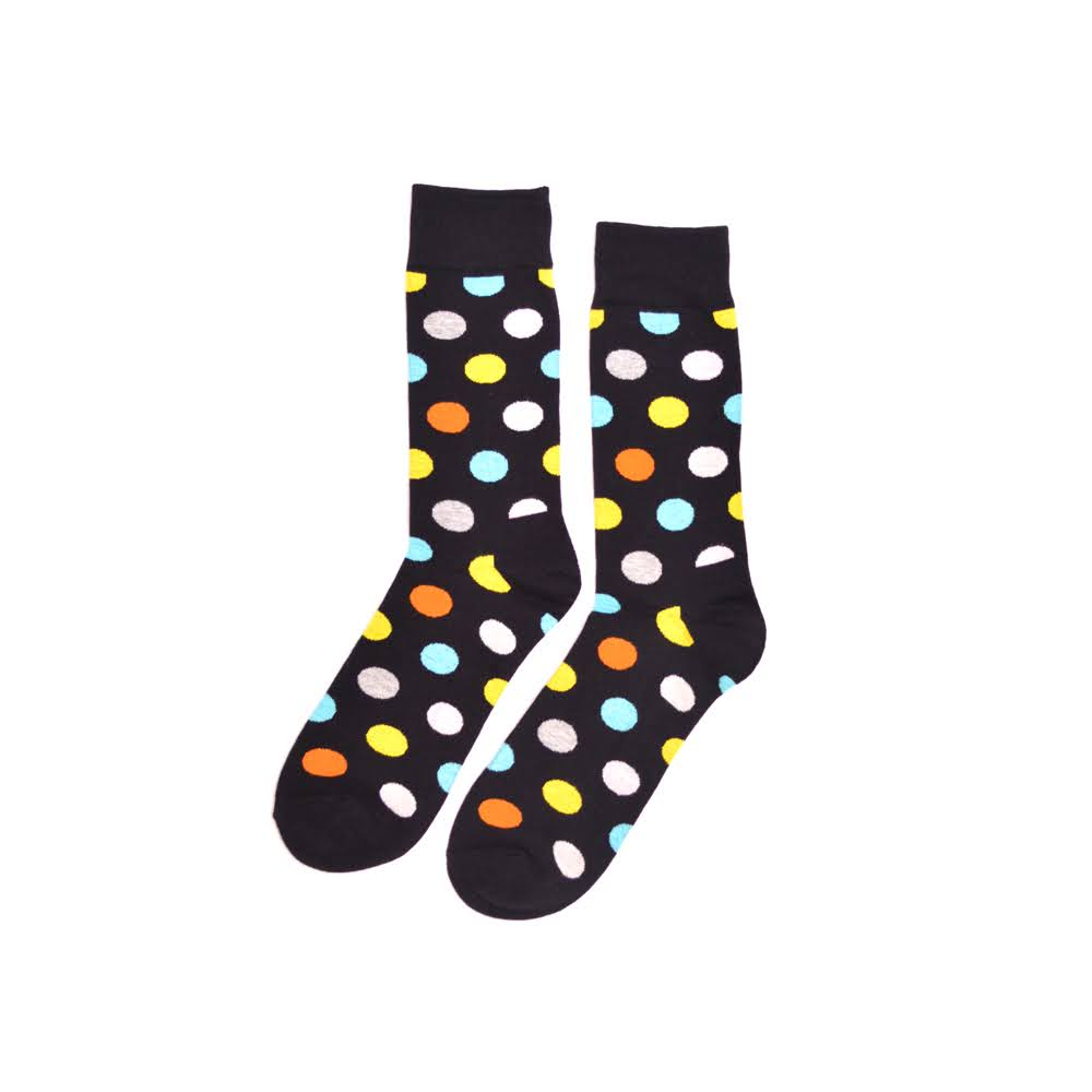 KYSO Black Polka Dot Socks
