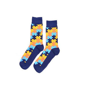 Puzzle Dress Socks