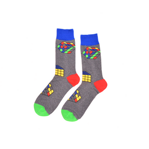 Rubik's Cube Dress Socks