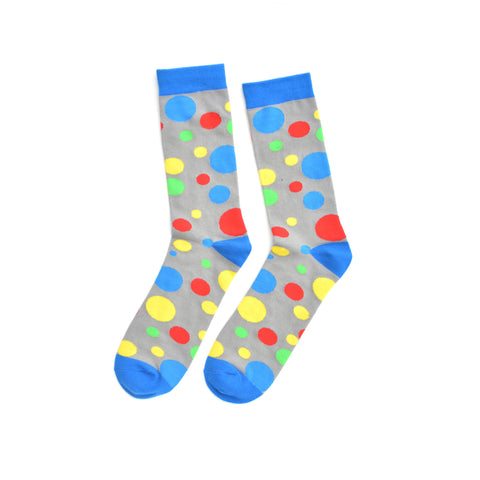 Blue, Red, Yellow and Green Dotted KYSO socks