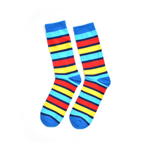Red, yellow and blue KYSO socks