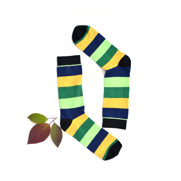 men's wide stripes KYSO dress socks