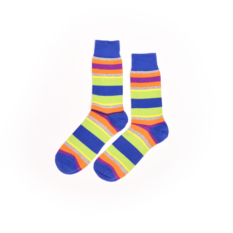 Green Stripes Dress Socks