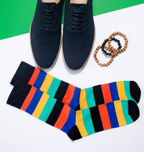 Men s Stripes Bamboo Dress Socks