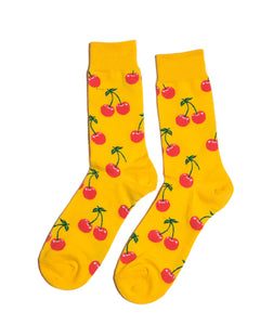 Cherry Dress Socks