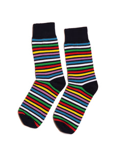 Red Stripes Dress Socks