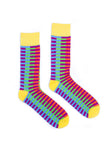 Men s Alcatraz Stripes Dress Socks
