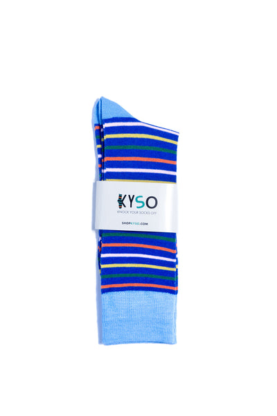 Men s Navy Stripes Bamboo Dress Socks