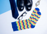 Men s Zigzag Bamboo Dress Socks