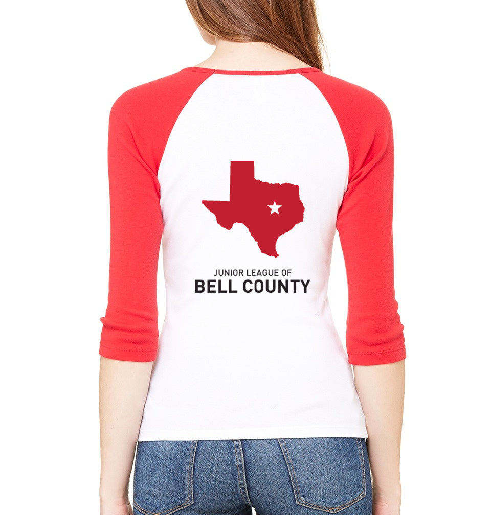 "JL Bell County Women's ""Volunteer State"" Ringer Shirt"