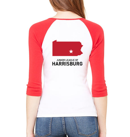 "JL Harrisburg Women's ""Volunteer State"" Ringer Shirt"