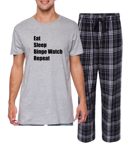 "Rockabye ""Binge Watch"" Unisex Sleep Set"