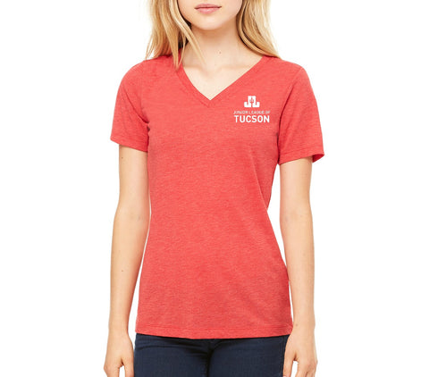 "JLT Women's ""Logo"" V-Neck T-shirt"