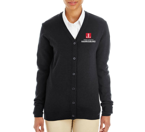 "JL Harrisburg Women's ""Logo"" Embroidered Cardigan"