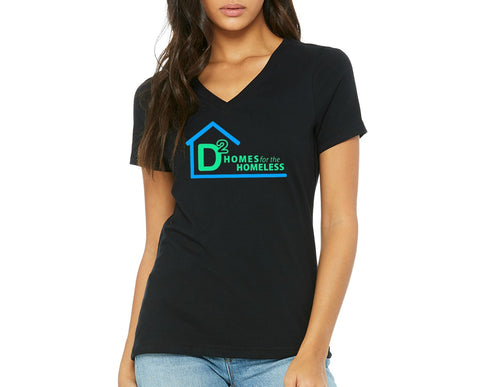 "D-Squared ""Logo"" Women's V-Neck T-shirt"