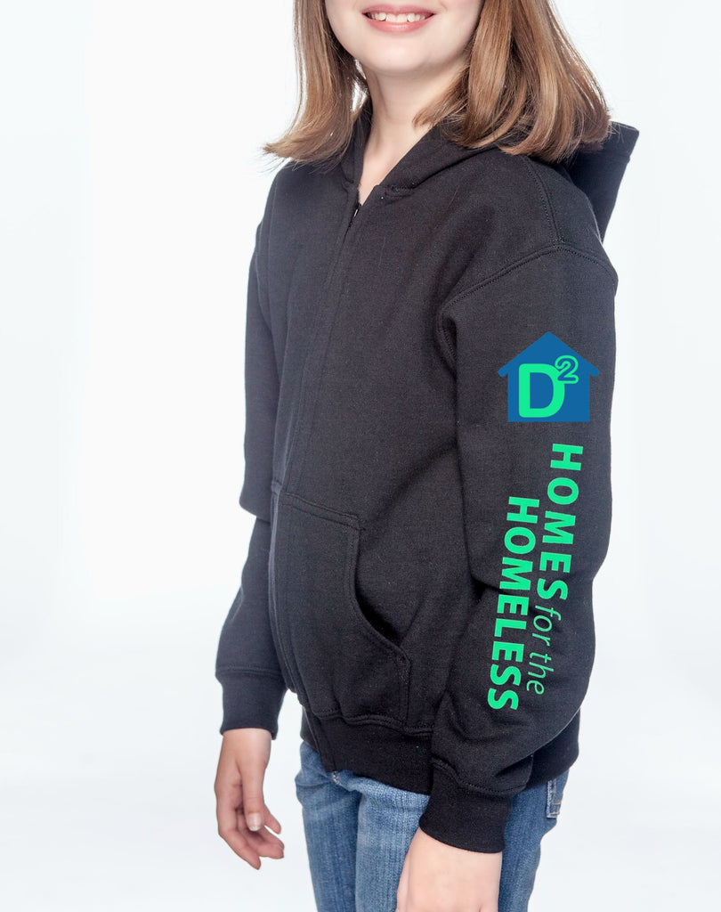 "D-Squared ""Logo"" Youth Zip-Up Hoodie"