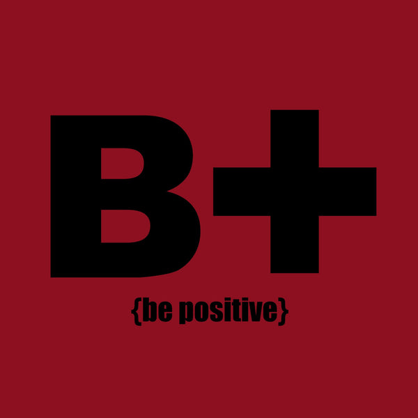 """Be Positive"" Men's T-shirt Red w/Black Print"