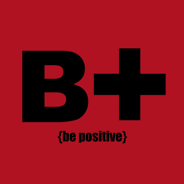 """Be Positive"" Infant T-shirt Red w/Black Print"