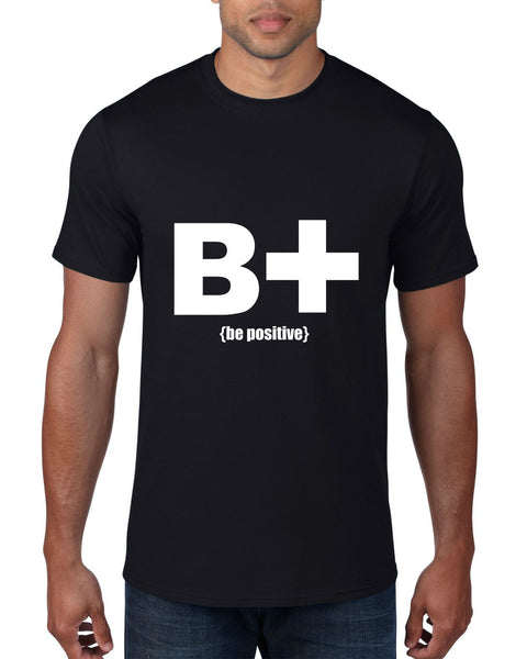 """Be Positive"" Men's T-shirt Black w/White Print"