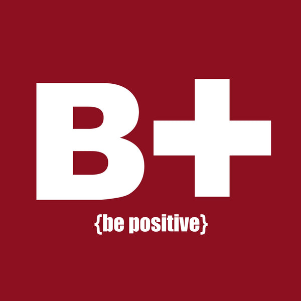 """Be Positive"" Men's T-shirt Red w/White Print"