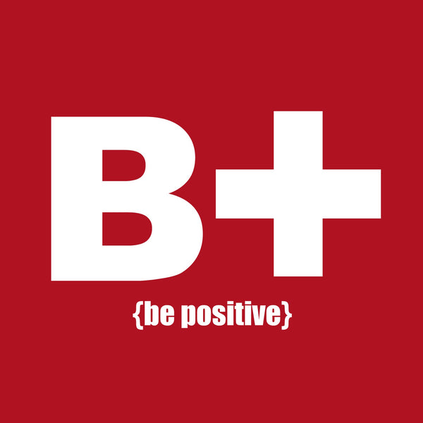 """Be Positive"" Youth T-shirt Red w/White Print"