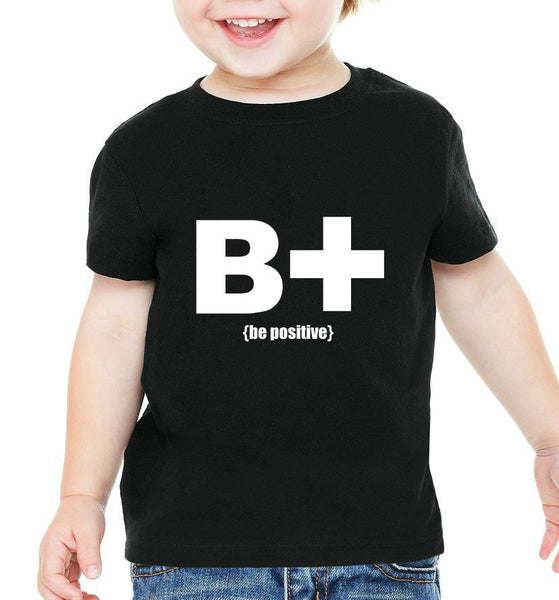"""Be Positive"" Infant T-shirt Black w/White Print"