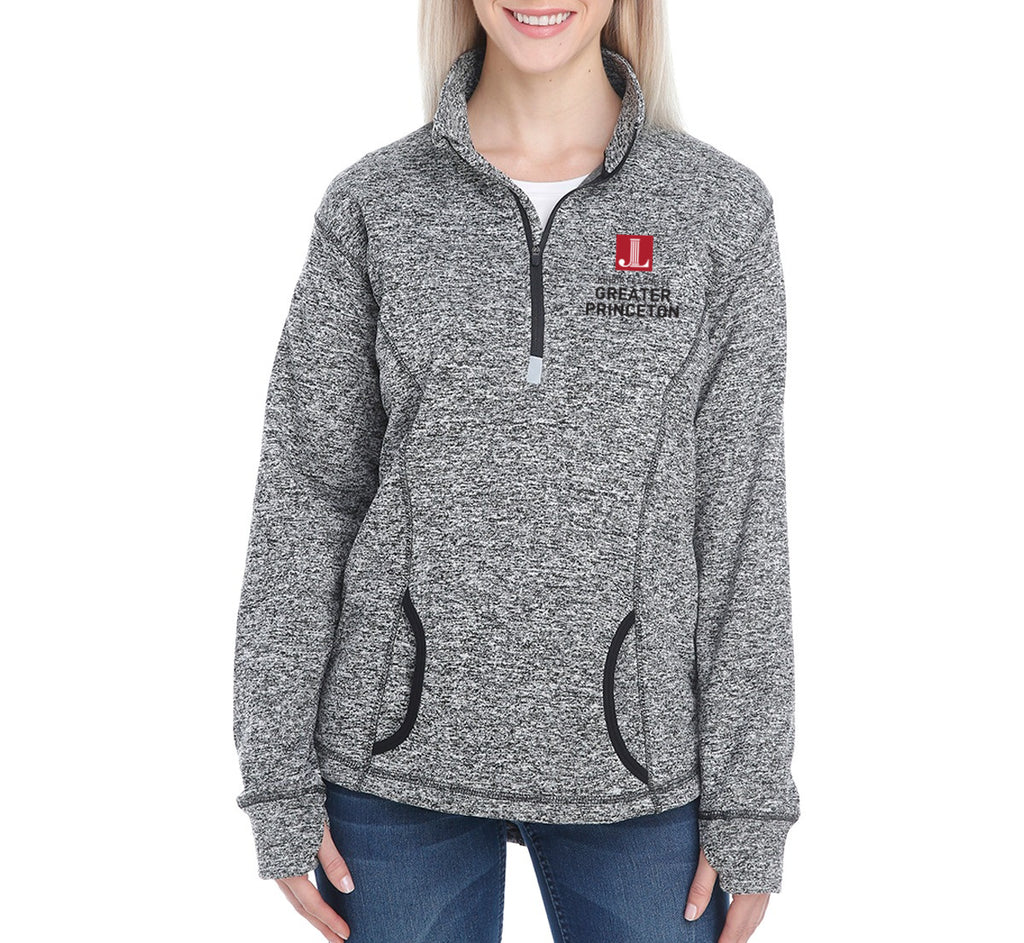"JL Greater Princeton Women's ""Logo"" Cosmic Fleece Quarter-Zip Pullover"