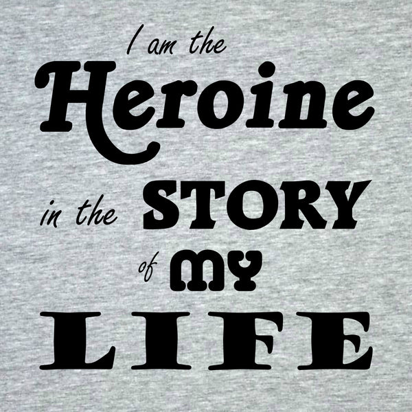"""The Heroine"" Women's T-shirt Gray w/Black Print"