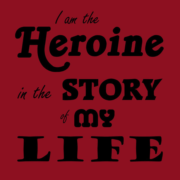 """The Heroine"" Women's T-shirt Red w/Black Print"