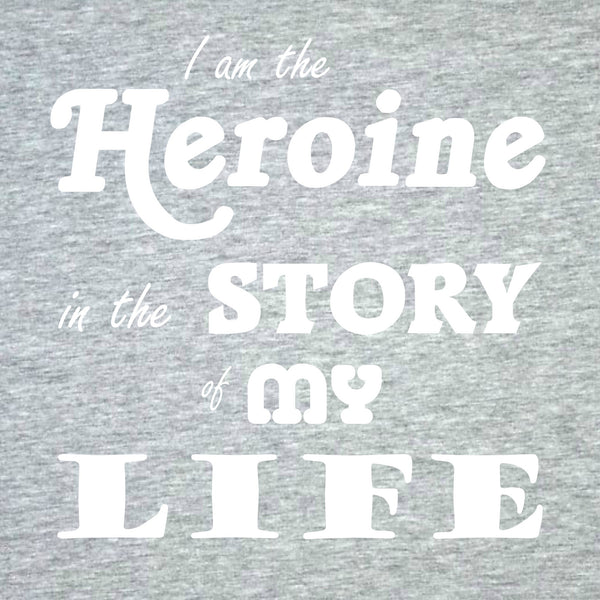 """The Heroine"" Women's T-shirt Gray w/White Print"