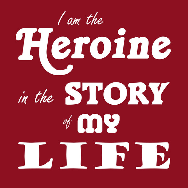 """The Heroine"" Women's T-shirt Red w/White Print"