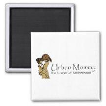 "Urban Mommy ""Logo"" Magnet"