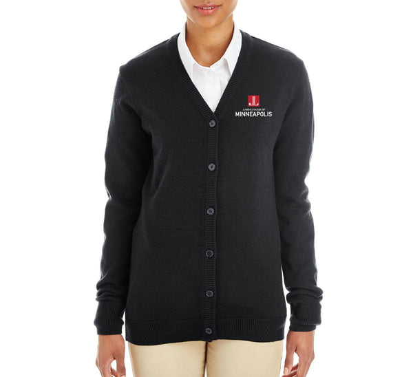 "JL Minneapolis Women's ""Logo"" Embroidered Cardigan"