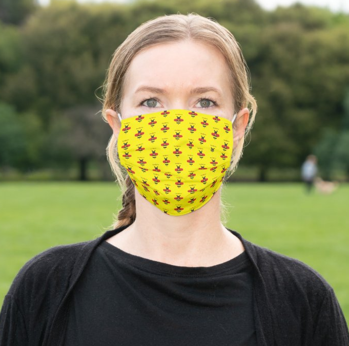 "LLS ""Team Bee Positive"" Cloth Face Mask"