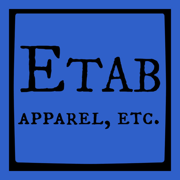 """Etab Logo"" Infant Onesie Blue w/Black Print"