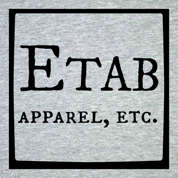 """Etab Logo"" Infant Onesie Gray w/Black Print"